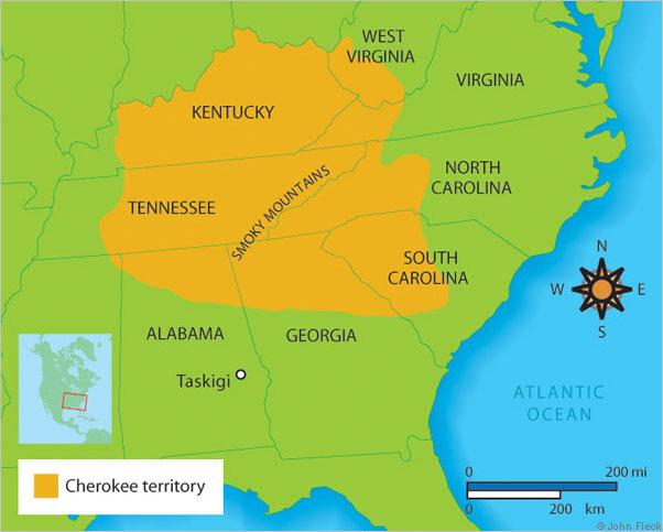 Maps - The Cherokee Nation Cherokee Map on